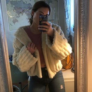 Olympia faux fur puffy coat
